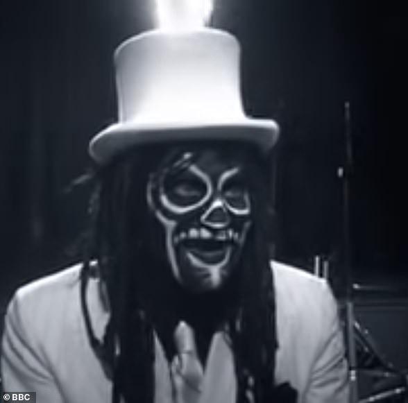 Noel Fielding as 'The Spirit of Jazz'