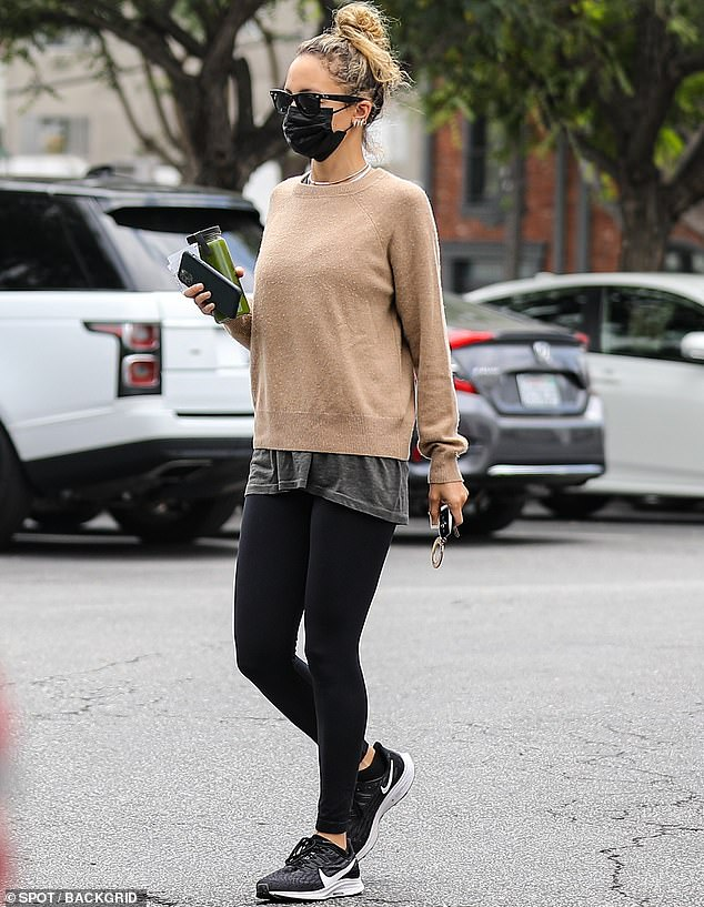 On the go: Nicole Richie put a stylish spin on California casual when she stepped out in Los Angeles this weekend