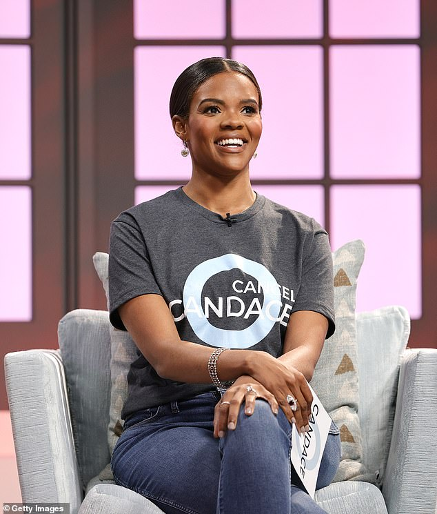 Political commentator Candance Owens, 32, (pictured) has railed against 'predator' Chrissy Teigen after the model's vile tweets were unearthed