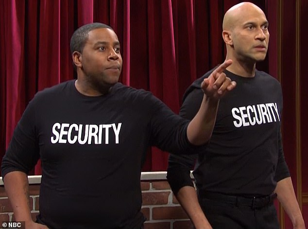 Goofing about:Then came a sketch in which Keegan and Kenan played bouncers working a live broadcast of the Muppet Show
