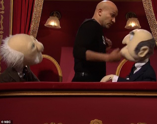 Brutal:When the opera box puppets continued to heckle Keegan showed up and beat one of them half to death until Kenan stopped him and sent him off to 'get some water'