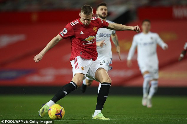 Manchester United and Leeds registered 43 shots in their match at Old Trafford in December