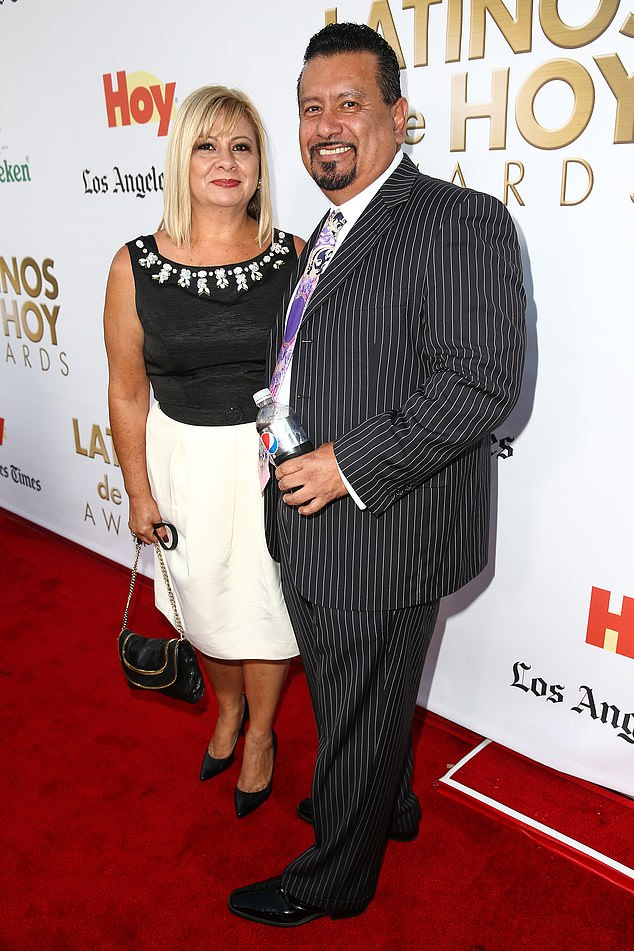 Montañez and his wife are pictured at a 2014 gala celebrating the contributions of Latinos