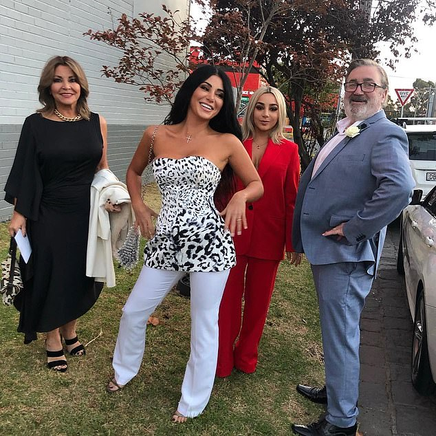 Keeping up with the Kalifatidises? Married At First Sight bride Martha is 'in talks for her own Kardashian-style reality show with her family'. Pictured (left to right): Mary, Martha, Sophie and TheoKalifatidis
