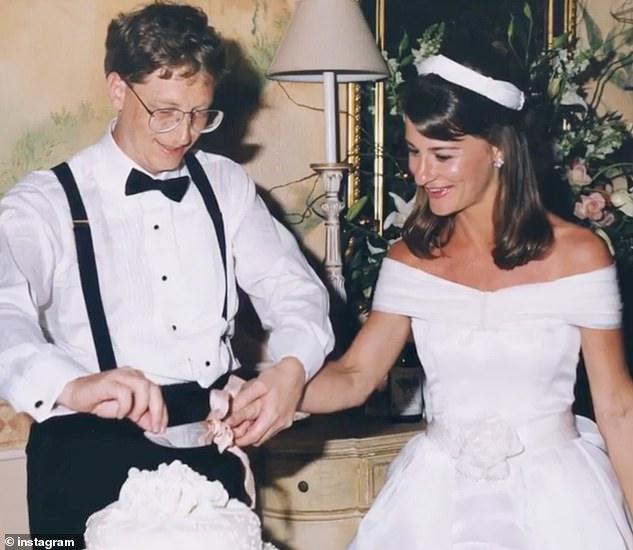Bill und Melinda Gates, gesehen bei ihrer Hochzeit im Jahr 1987. Das Microsoft-Board entschied, dass die Beziehung zwischen Gates und der Mitarbeiterin unangemessen war, und gab auf, während sie untersucht wurde