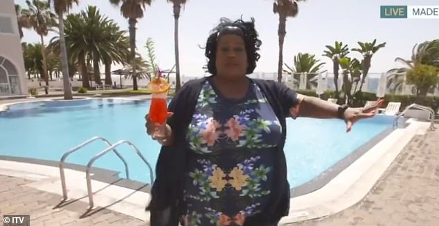 She said: 'I'm gonna get in that pool. I'm gonna get my bikini on and I'm gonna get in that pool. I'm not gonna do it for the cameras, because all this juice doesn't need to be seen'
