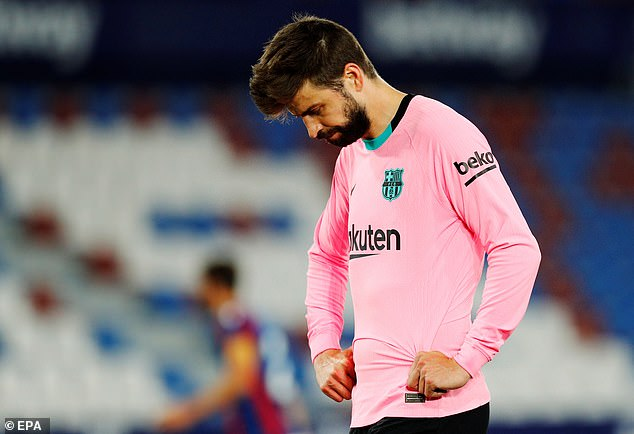 Gerard Pique missed a lot of the season but Barca still suffered in defence after he returned