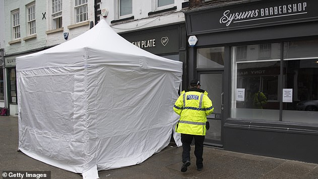 A tent was placed outside 'The Clean Plate' cafe in Gloucester on May 11, where specialist teams and an archaeologist are scanning the basement for Fred West's missing victim