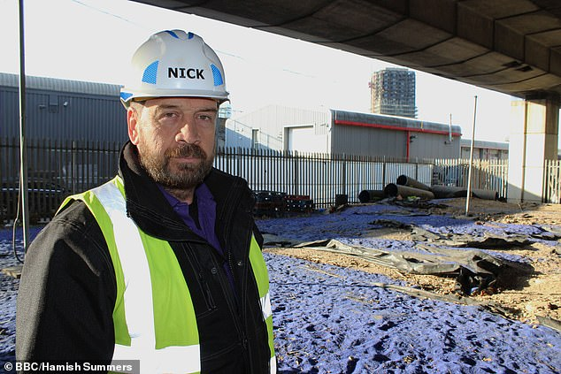 Rules: TV presenter, 58, plays a builder in a Shreddies commercial that allegedly breaks BBC advertising rules (pictured on DIY SOS)