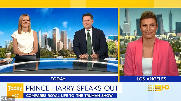 Privilege: 'I'm just saying it's ridiculous how he keeps whining about his childhood. He grew up in privilege - in a palace,' Stefanovic said. Picture left: Today co-host Allison Langdon; and right: Nine'sU.S. correspondent Alison Piotrowski