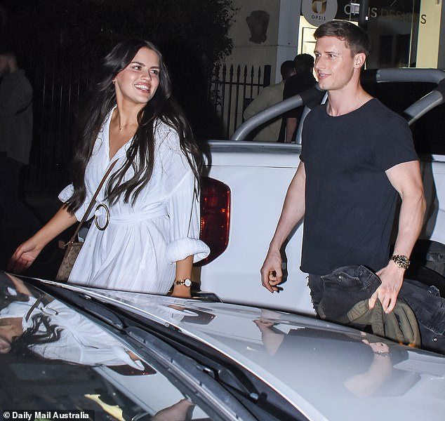 Date night: Last month, Christina and Brenton were spotted on a date night in Double Bay