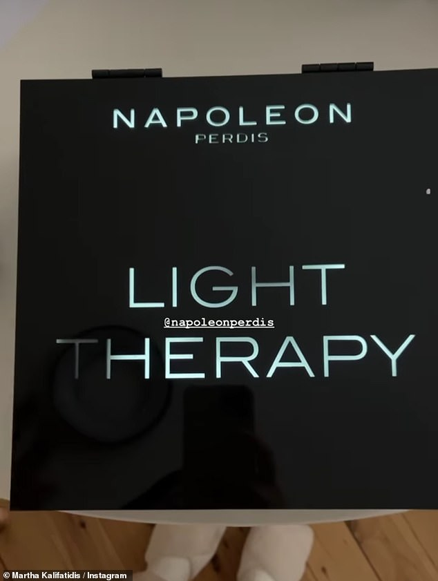 Gifted:She also was gifted a stash of products from Napoleon Perdis' new makeup range