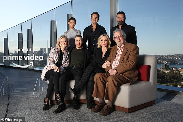 All smiles: Back to the Rafters cast attended a video call for Amazon Prime to promote the series on Tuesday
