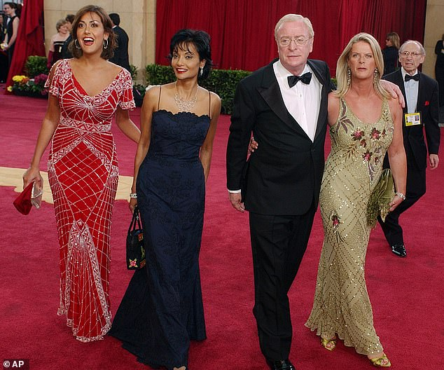 Family: Michael has two daughters;  Dominique, 65 (right) from her first marriage to actress Patricia Haines - and Natasha (left), 48, from her second, Shakira Baksh