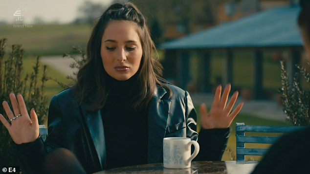 Deflection rejection:Maeva decides to throw Tristan under the bus by telling Tiff he hates her