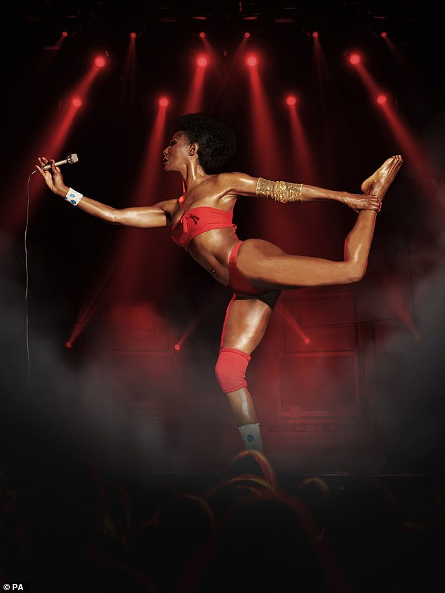 Stunning: Sinitta slipped in the outfit last week too as she posed for the campaign's official photographs