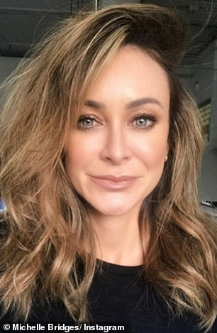 Take a walk on the lighter side!  Newly single Michelle Bridges debuted on Tuesday with her new blonde hair.  On the front photo