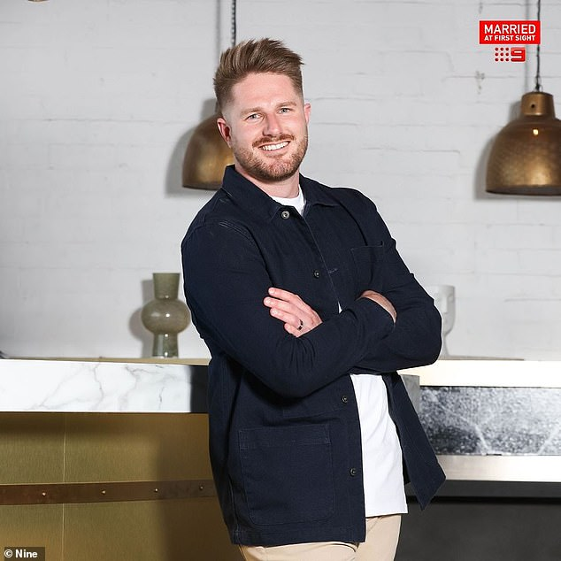 Revealed:Married At First Sight's Bryce Ruthven, 32, (pictured) has slammed'fake' Nova radio host Chrissie Swan and said she was 'rude' during their meeting back in April