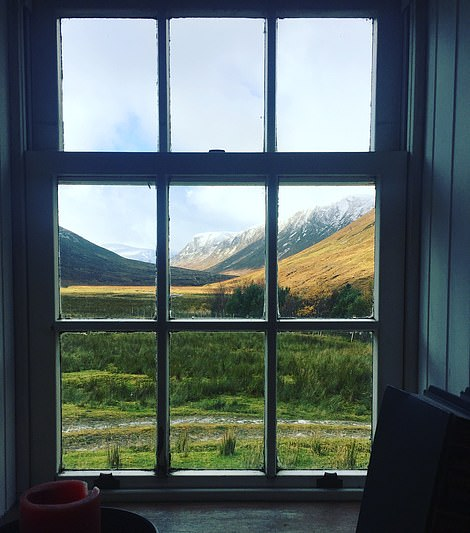 The view from the Deanich Lodge living room window