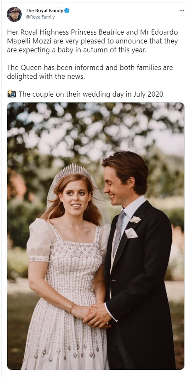 The couple tied the knot in a surprise secret wedding at the Royal Chapel of All Saints, in the grounds of Prince Andrew and Sarah Ferguson's home of Royal Lodge, in Windsor Great Park on 25 September 2020.