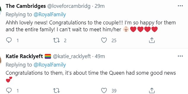 Taking to social media, royal fans congratulated Princess Beatrice and Edo on their happy news (pictured)