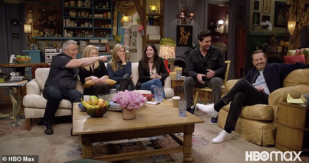 Chatty: Lisa admitted the first table read was the 'first time I laid eyes on any of you' while Schwimmer noted everyone was 'so perfectly cast'