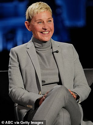 Out with Ellen:The actress, 41, does seem like a likely candidate as she has filled in for the chat show host a number of times with PageSix claiming she is a 'favorite' thanks to her 'humor and empathy.'