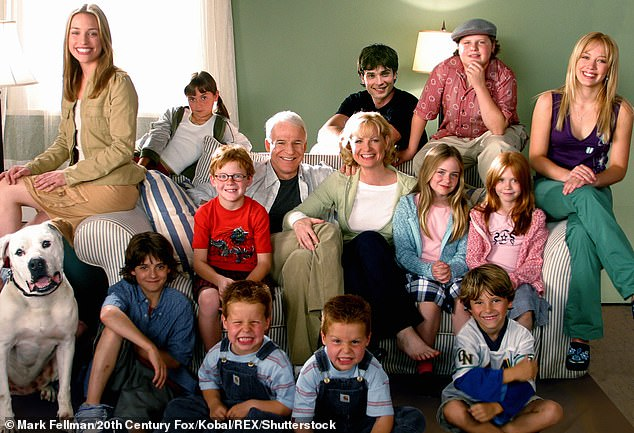 Cheaper By The Dozen:Prior to Hannah Montana, Morgan appeared in the Cheaper By The Dozen film reboots, which saw her performing alongside the likes of Steve Martin and Hilary Duff';Morgan pictured with cast of Cheaper By The Dozen (2003)