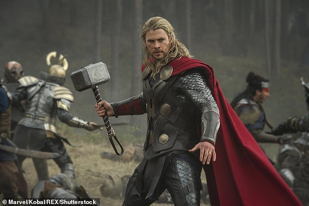Next up: Production on Thor: Love and Thunder began in January at Fox Studios in Sydney. The blockbuster will see Natalie's character, astrophysicist Jane Foster, take up the mantle of Thor after transforming into a female version of the Norse god. Pictured: Chris Hemsworth as Thor