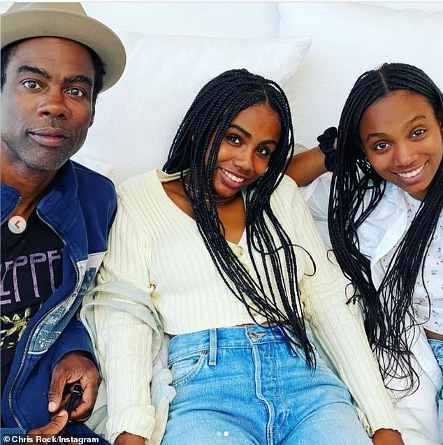 'Nothing makes me happier than my girls': Rock is grateful to have their daughter Zahra Savannah (M, pictured in 2020) - turning 17 this Saturday - and 18-year-old daughter Lola Simone (R) in his life