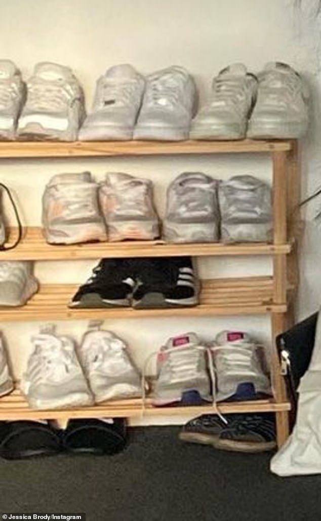 You all white?'Tell me you love white sneakers without telling me you love white sneakers,' Married At First Sight star Connie Crayden commented, noting Jess' monotone shoe collection