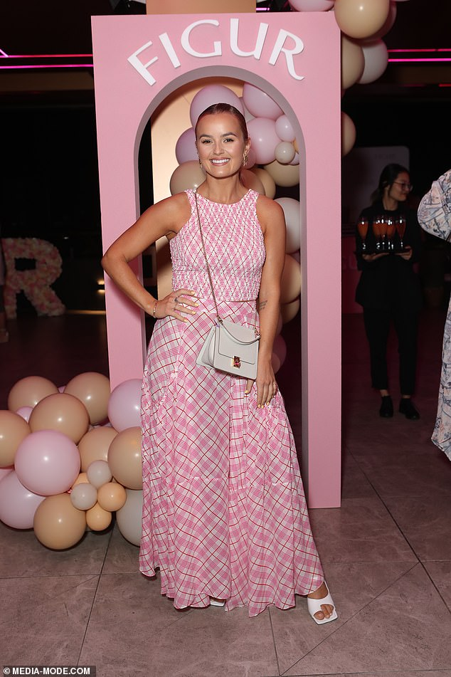The right moves: Also attending the festivities was former Bachelorette Elly Miles, who spent time posing with Jules. She wore a pink, tartan ensemble
