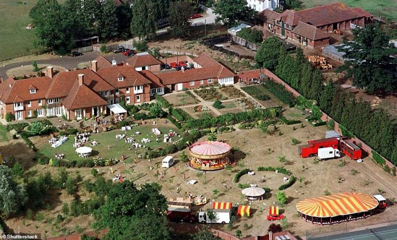 Unfortunate: A source claimed: 'Finding the perfect spot to film isn't always easy and they had drawn up extensive plans to build on the site' (the estate pictured in 1996)
