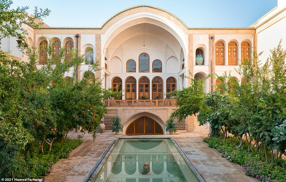 The 20-room Manouchehri House (pictured) is located in the city of Kashan, two-and-a-half-hours' drive from Tehran. According to Wegmann, Kashan was the former centre of Iranian textile arts. This hotel doffs its cap to this heritage by featuring its own weaving workshop, where it carries out master-apprentice textile weaving education. Other hotel facilities include two restaurants, a gift shop and a cinema that was created by converting a cistern