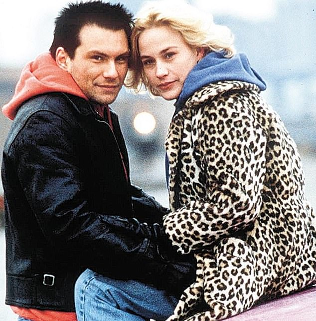 Iconic: She was referring to True Romance which starred Christian Slater (left) as Clarence Worley and Patricia as Alabama, directed by Tony Scott and written by Quentin Tarantino
