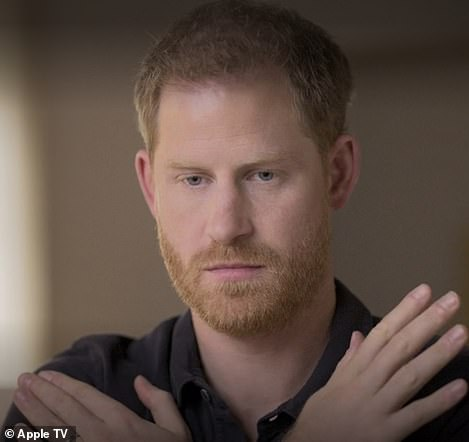 Prince Harry during therapy