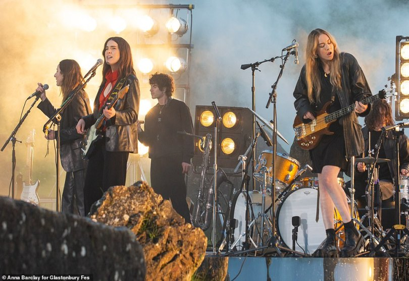 Back on stage! BRIT Award-winning trio HAIM, who travelled to the UK earlier this month, also rocked out at the venue in a performance that will be streamed for fans this weekend