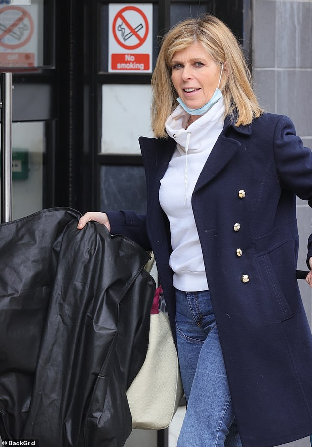 Pictured: Kate was seen heading to her Smooth radio show at the London Global studios later on Friday after GMB
