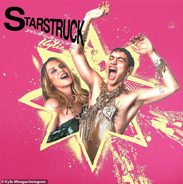 Collaboration: Kylie Minogue has teamed up with Olly Alexander for the official remix of his new single, Starstruck
