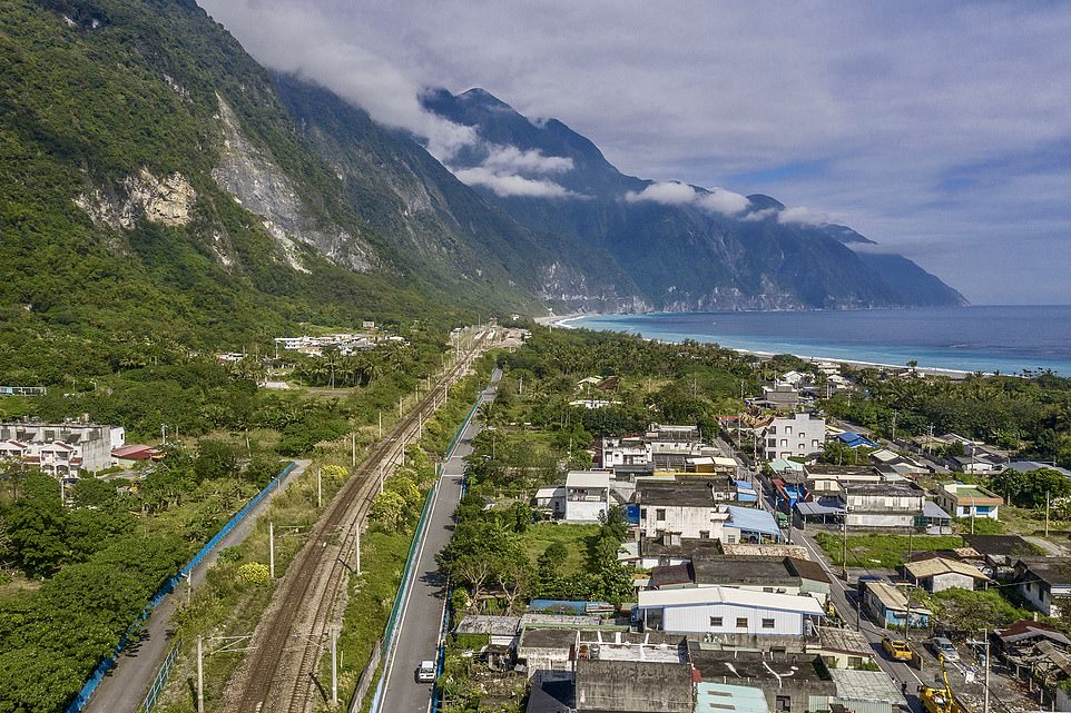 The World's Most Scenic Railway Journeys airs on Channel 5 at 9pm tonight and begins in the port city of Hualien, close to where this image was taken