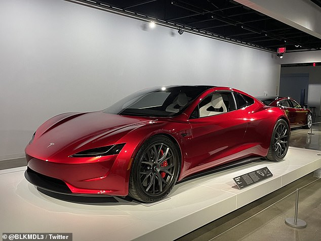 Images of the all-new Tesla Roadster surfaced online Thursday, showing a sleek red car that is ready to cruise down the road