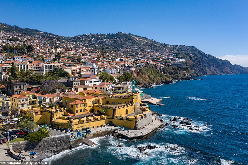 Madeira's pretty capital, Funchal. Currently, outdoor cafes and bars are open there, though there's a strict 10pm curfew on serving alcohol