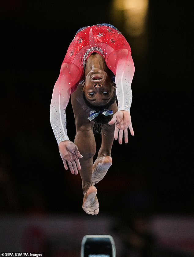 Champion: Simone claimed four gold and one bronze at the 2016 Olympics, and she is widely considered a shoo-in for the US's 2021 team