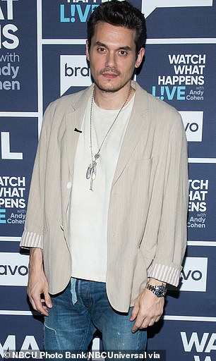 Rebound: The I Wanna Love You Forever singer dated Mayer for about a year after she and Nick divorced; pictured 2020