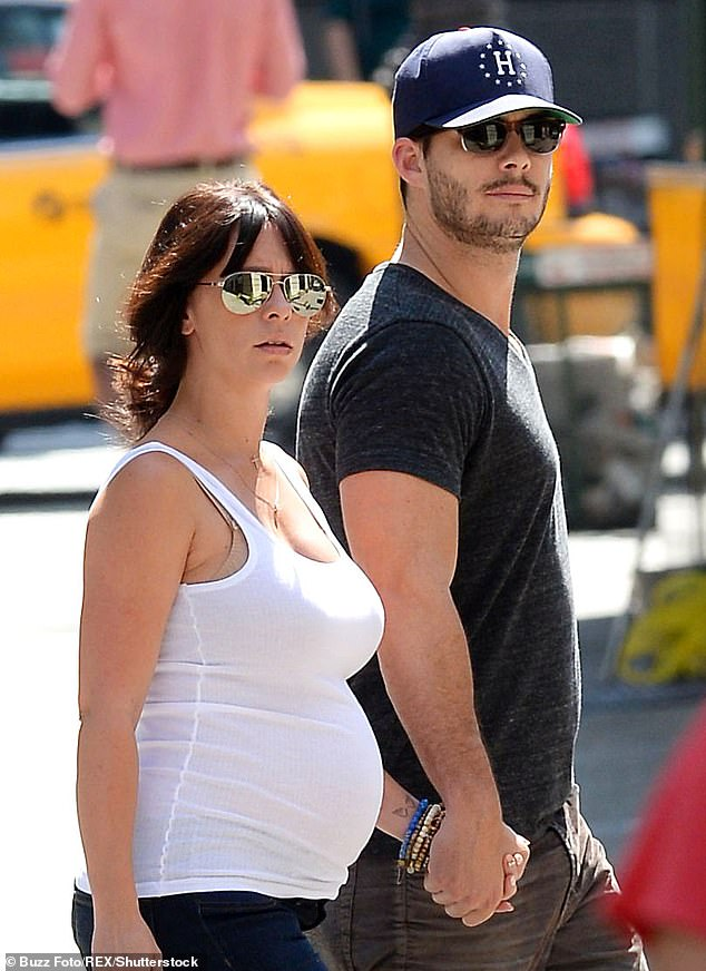 Growing family: The couple met on the set of the Lifetime series The Client; they are seen together in August 2013, three months before giving birth to their daughter Autumn