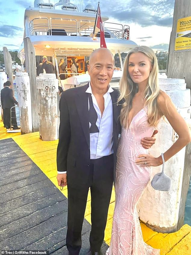 Powerful gesture: Dr Charlie Teo (pictured with his model girlfriend Traci Griffiths in Sydney on May 2) is a renowned brain surgeon
