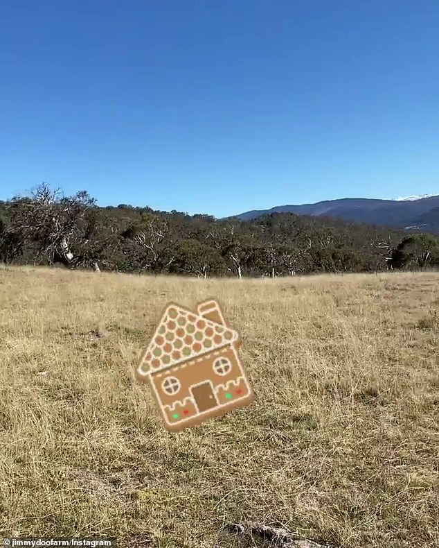 What a view! Neil also posted on the property account in which he revealed a panoramic shot of the land where they plan to build their chalet. The view he shared also that showed a hint of the snow capped mountains of Perisher Valley in the distance