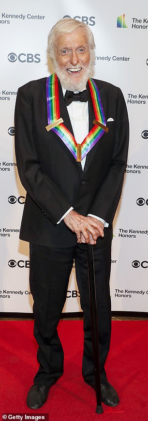 Culture fixture: Dick Van Dyke, 95, looked shockingly spry despite carrying a cane as he led the newest class of Kennedy Center honorees on Friday night