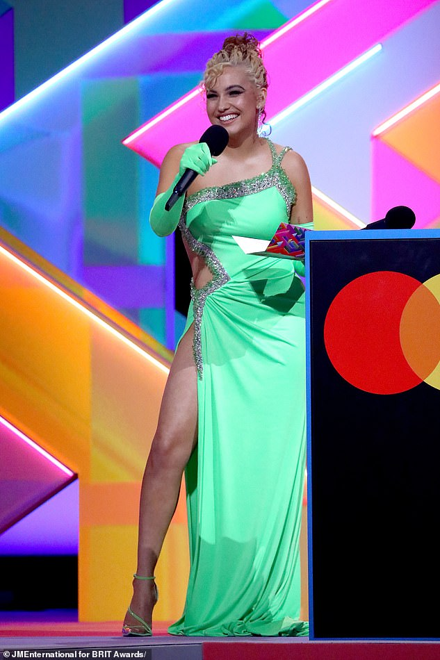 Honest:In a candid interview with GQ , the Don't Call Me Up hitmaker (pictured at the BRITs) revealed that she feels liberated after finally learning to embrace her mental health struggles