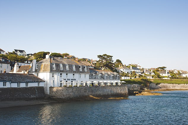 The Idle Rocks in St Mawes, above, has a sun terrace with spectacular sea views